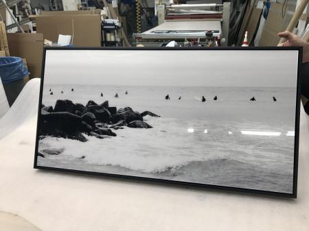 Black float frame